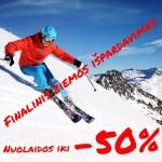 Finalinis žiemos sporto prekių IŠPARDAVIMAS!!